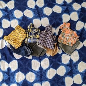 Baby Boys Pants and Button Down Shirts